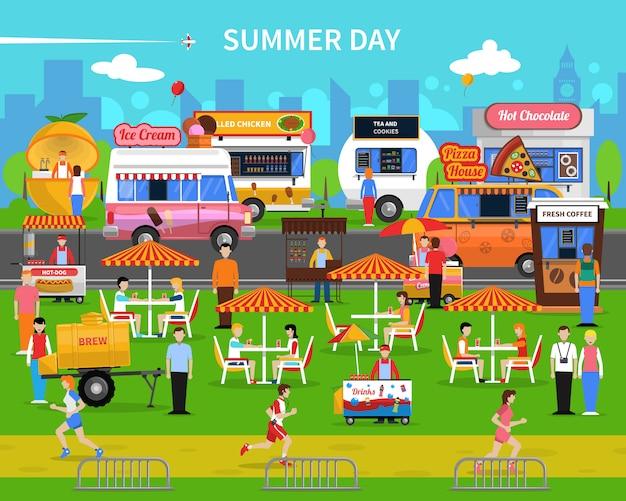 Sommertag hintergrund Kostenlosen Vektoren