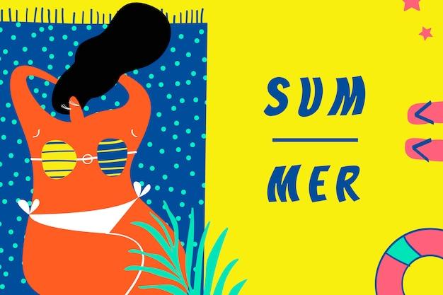 Sommertage am strand Kostenlosen Vektoren
