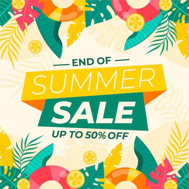 Sommerverkauf zum saisonende Premium Vektoren