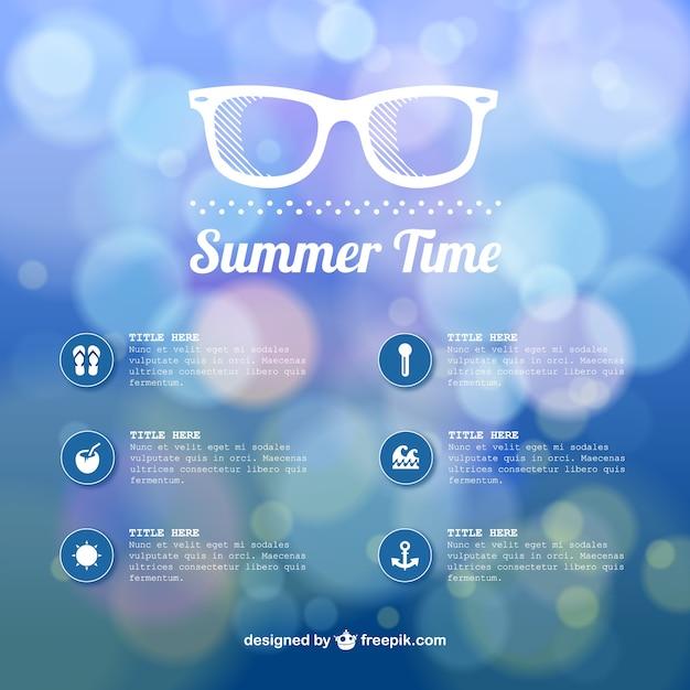 Sommerzeit abstrakte bokeh-vorlage Kostenlosen Vektoren