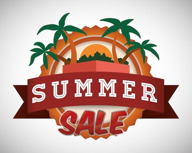 Sommerzeit design Premium Vektoren