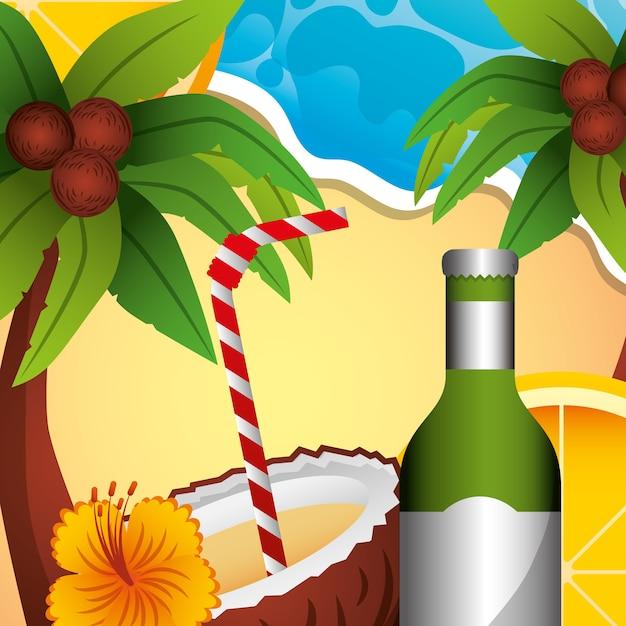 Sommerzeit-konzept Premium Vektoren