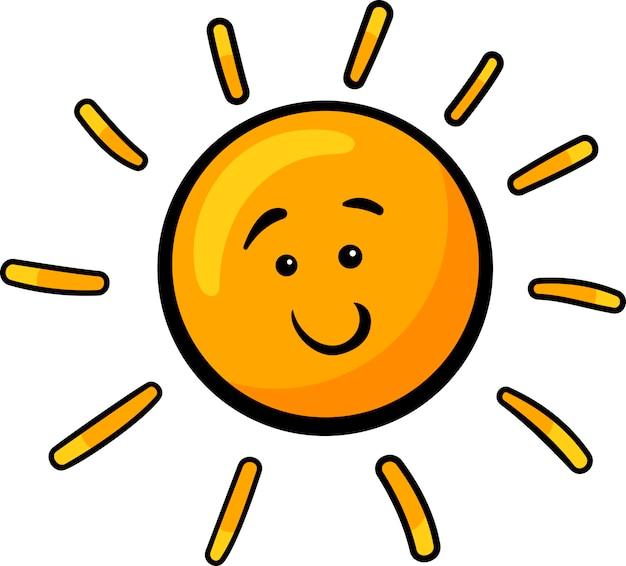 Sonne clipart gratis  Sonne ClipArt Cartoon Illustration | Download der Premium Vektor