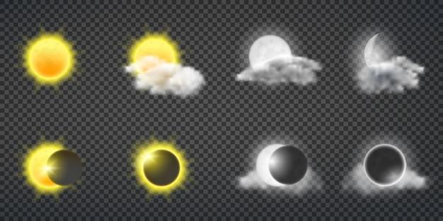 Sonnenaktivität oder wettervorhersage Kostenlosen Vektoren