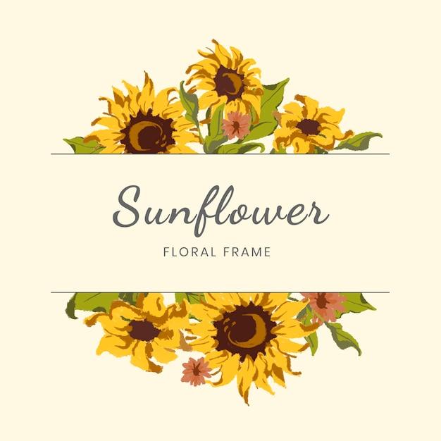 Sonnenblumenkranz Kostenlosen Vektoren