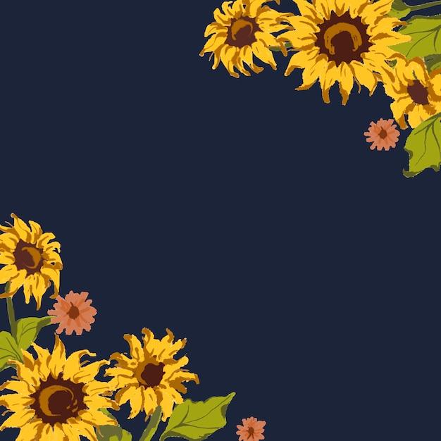 Sonnenblumenmuster Kostenlosen Vektoren