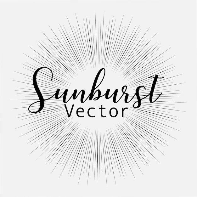 Sonnendurchbruchart lokalisiert auf weißem hintergrund Premium Vektoren