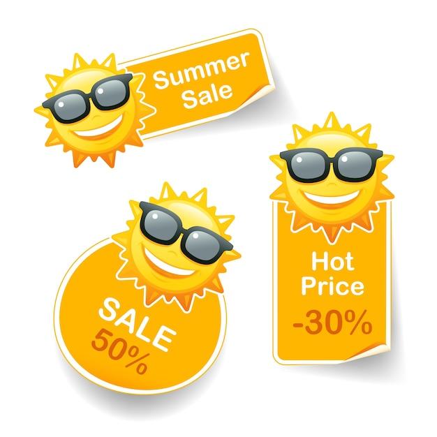 Sonnenrabatt Kostenlosen Vektoren