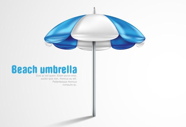 Sonnenschirm auf einem weißen hintergrund Premium Vektoren