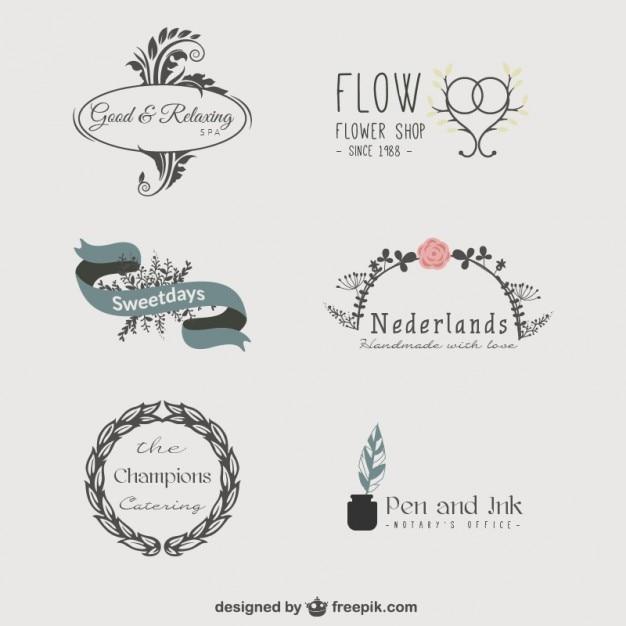 Sortierten logo-vorlagen Kostenlosen Vektoren