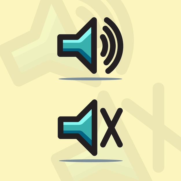 Soundlautsprecher-symbol Premium Vektoren