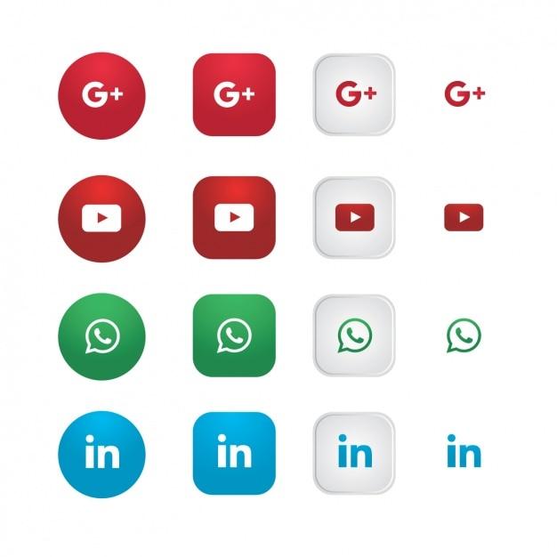 Soziale netzwerk-ikonen-sammlung Kostenlosen Vektoren