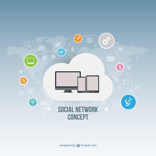 Soziale Netzwerk-Konzept | Download der kostenlosen Vektor