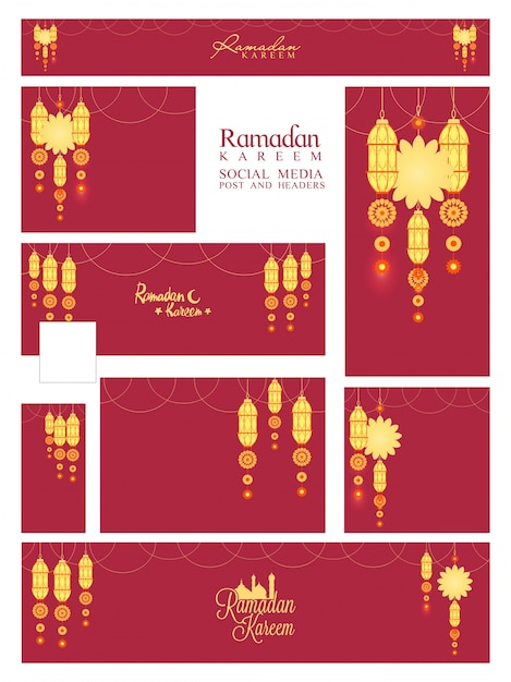 Soziale ramazan asien feier tradition Kostenlose Vektoren