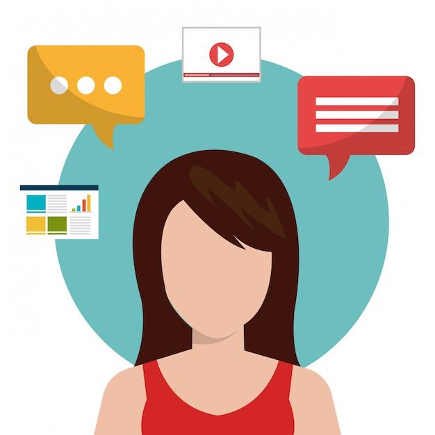 Sozialen medien Kostenlosen Vektoren
