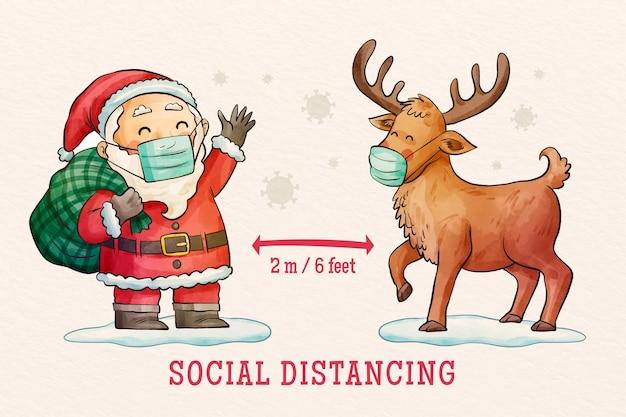 Soziales distanzierungskonzept dargestellt Kostenlosen Vektoren