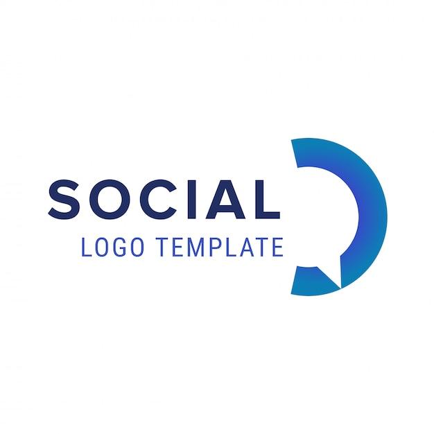Soziales logo. vektor chat logo design-vorlage Premium Vektoren