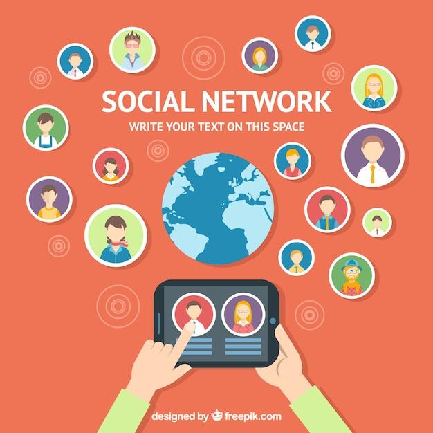 Soziales netzwerk Kostenlosen Vektoren
