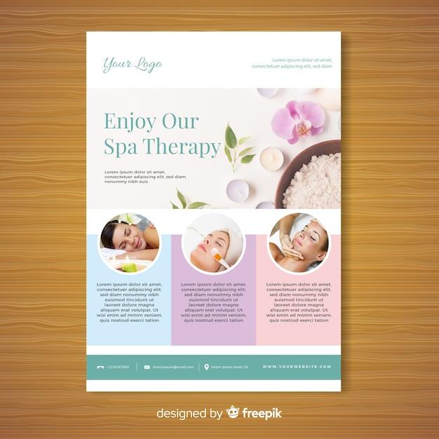 Spa-broschüre vorlage Kostenlosen Vektoren