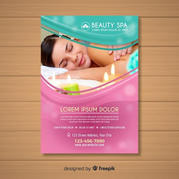 Spa-broschüre Kostenlosen Vektoren