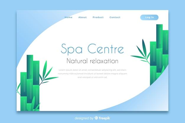 Spa landing page mit natürlichen elementen Kostenlosen Vektoren