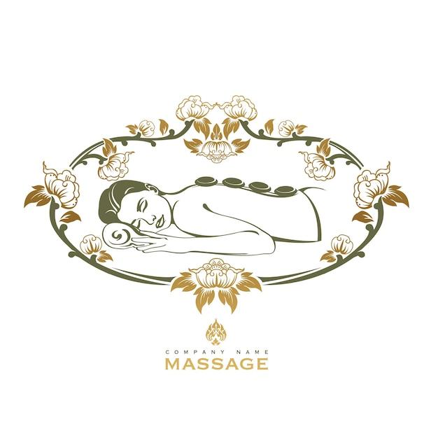 Spa-massage-logo Premium Vektoren