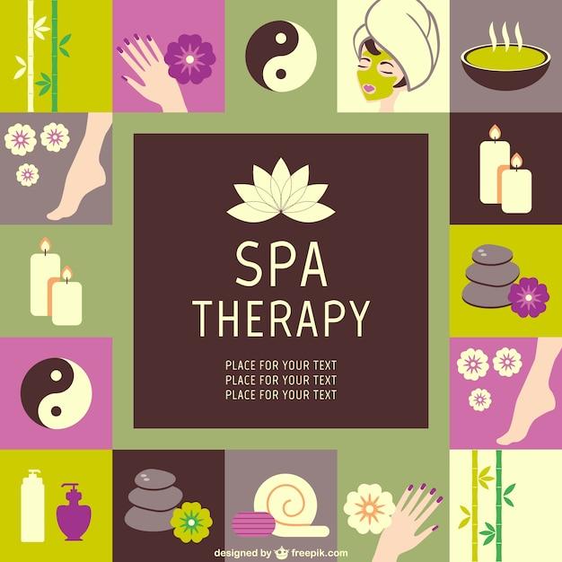 Spa-therapie-set Kostenlosen Vektoren