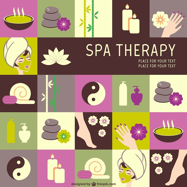 Spa-therapie vektorgrafiken Kostenlosen Vektoren