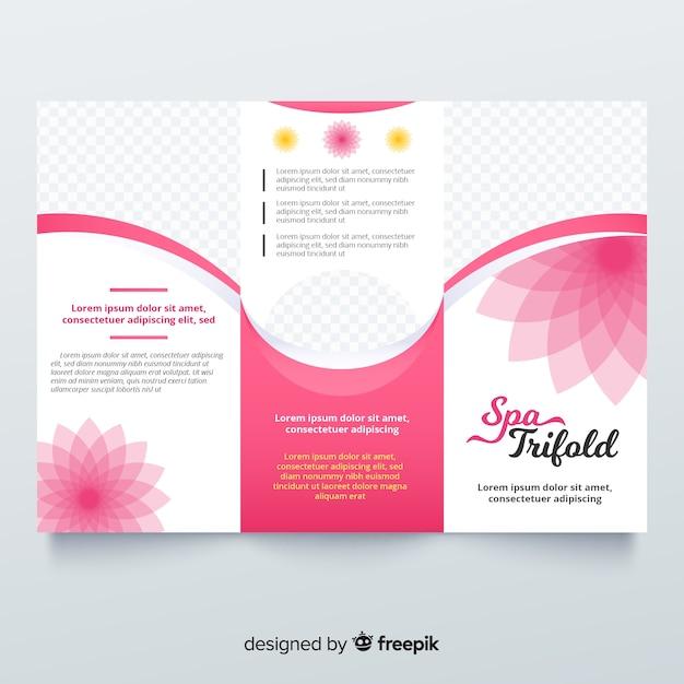 Spa trifold-broschüre Kostenlosen Vektoren