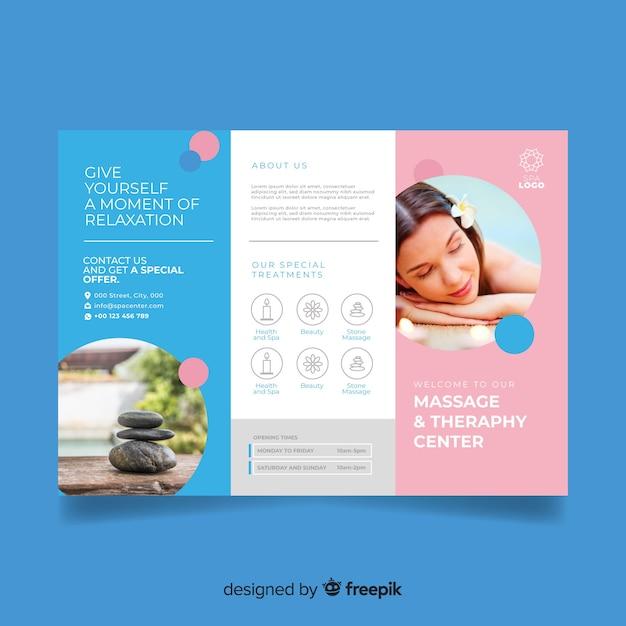Spa Trifold-Broschüre Kostenlose Vektoren