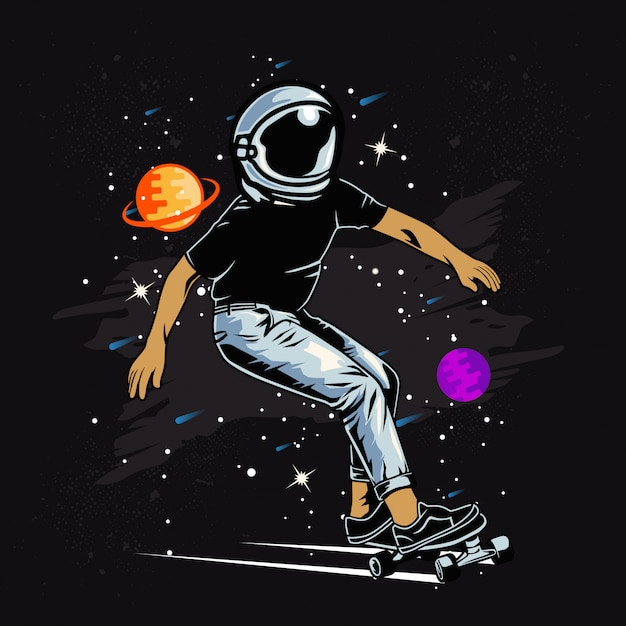 Space skater Premium Vektoren