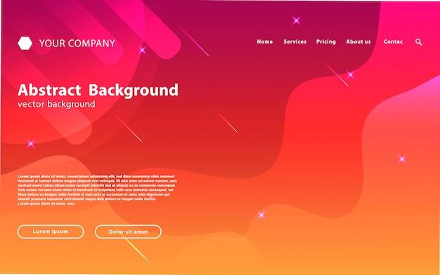 Space website landing page hintergrund Premium Vektoren