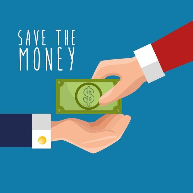Spar- und geldkonzept Kostenlosen Vektoren