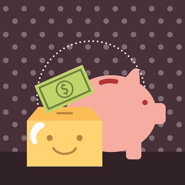 Spardose und Sparbüchse Banknotenspenden spenden   Download der ...