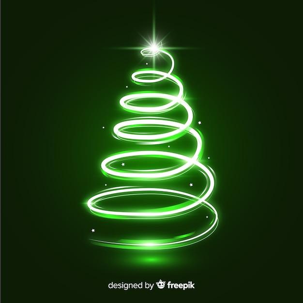 Sparkle-trail-weihnachtsbaum Kostenlosen Vektoren