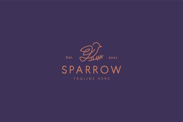 Sparrow bird nature life illustration logo Premium Vektoren