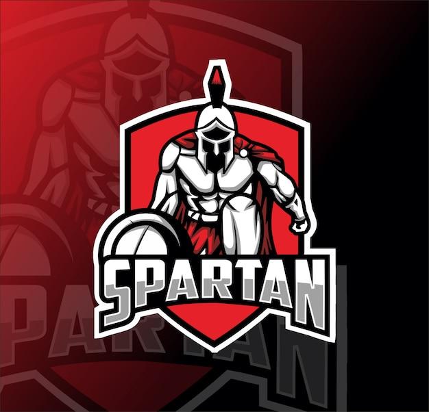 Spartan maskottchen esport logo Premium Vektoren