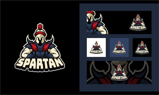 Spartan sport maskottchen logo vorlage Premium Vektoren