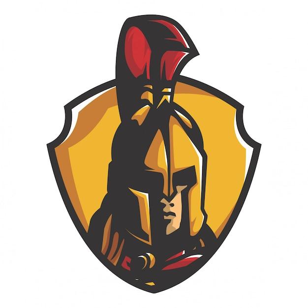 Spartanischer krieger-vektor Premium Vektoren