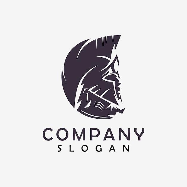 Spartanisches abstraktes logo Premium Vektoren