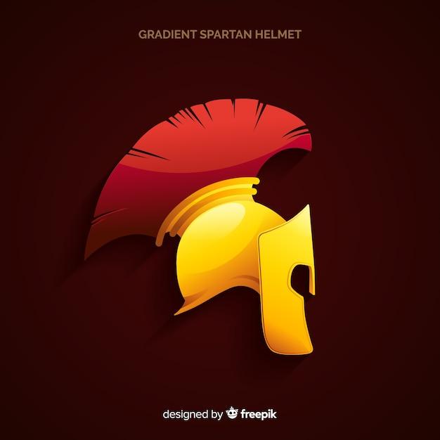 Spartanisches helmdesign Kostenlosen Vektoren
