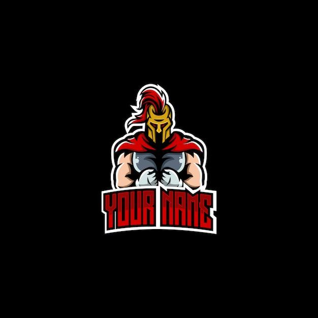 Spartanisches logo-design Premium Vektoren