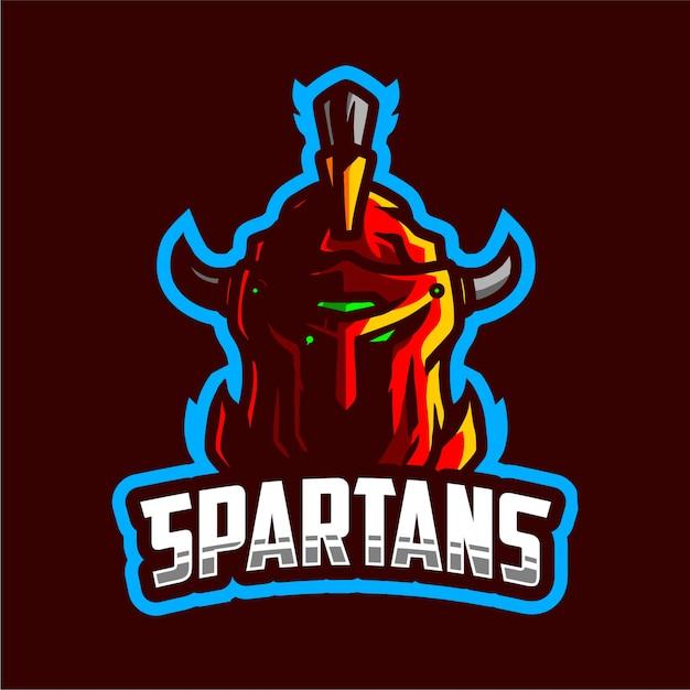 Spartans maskottchen-gaming-logo Premium Vektoren