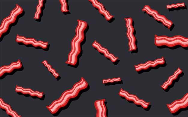 Speckmusterlebensmittel-tapetenillustration Kostenlosen Vektoren