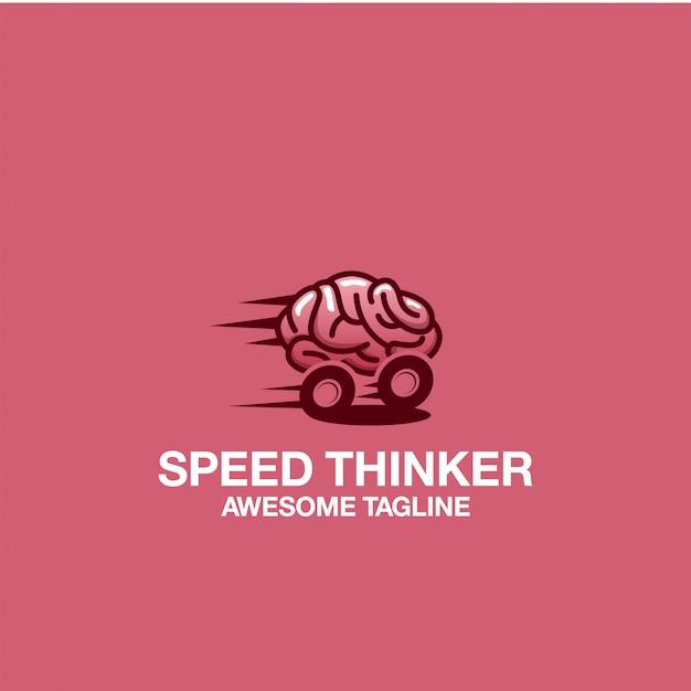 Speed thinker logo design fantastische inspiration inspirationen Premium Vektoren