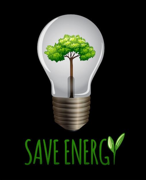 Speichern sie das enegy-logo auf blackground Kostenlosen Vektoren