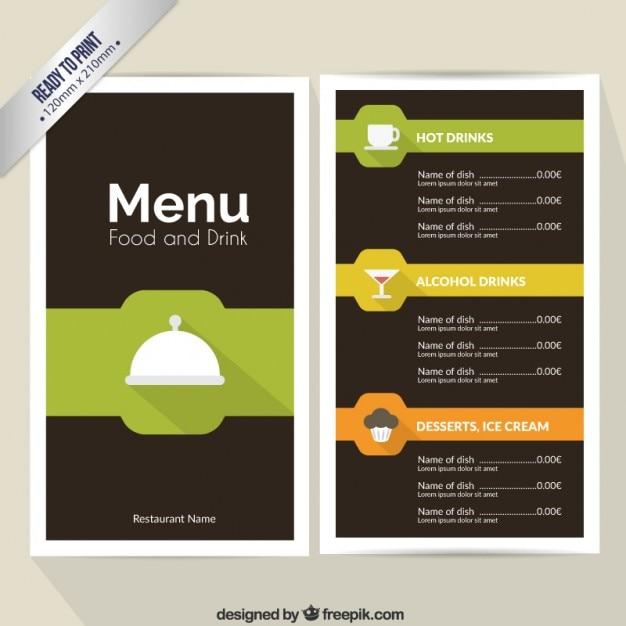 Speise- und Getränkekarte   Download der kostenlosen Vektor