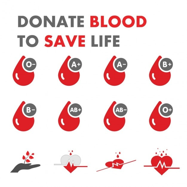 Spenden sie blut leben zu retten Kostenlosen Vektoren