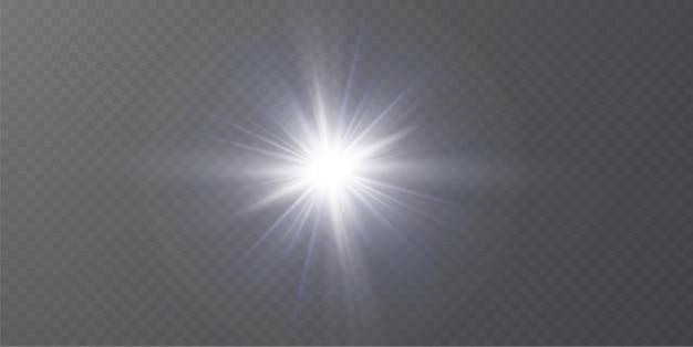 Spezieller linseneffekt des abstrakten transparenten sonnenlichts. Premium Vektoren