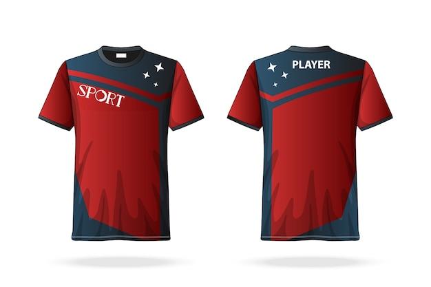 Spezifikation fußball t-shirt rundhalsausschnitt Premium Vektoren